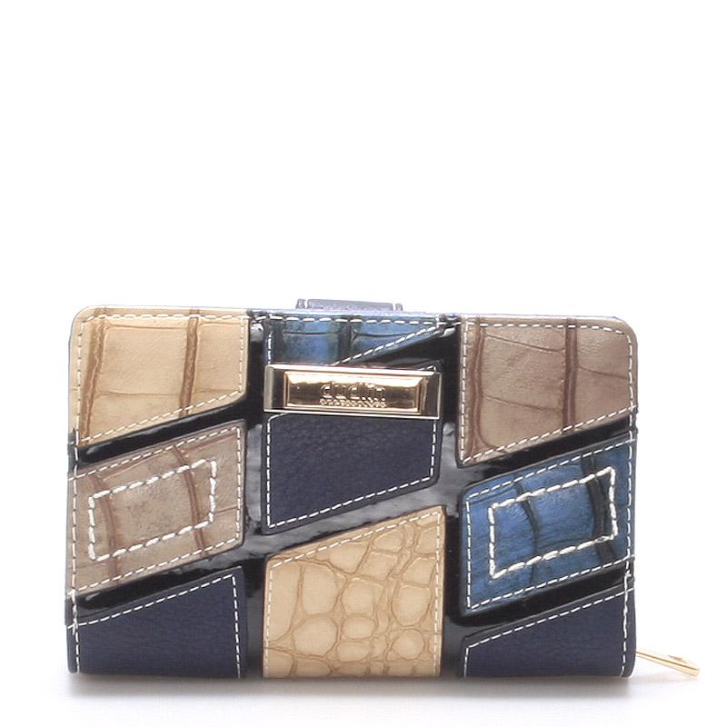 Originální větší dámská tmavě modrá peněženka - Dudlin M257