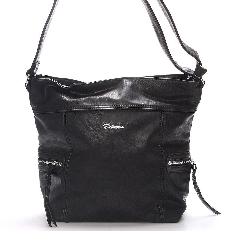 Dámská crossbody kabelka černá - Delami Bernardette