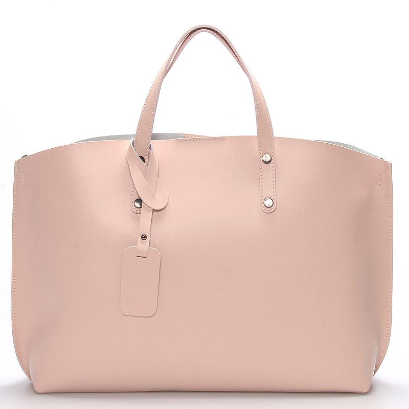 Dámská kožená kabelka růžová - ItalY Jordana