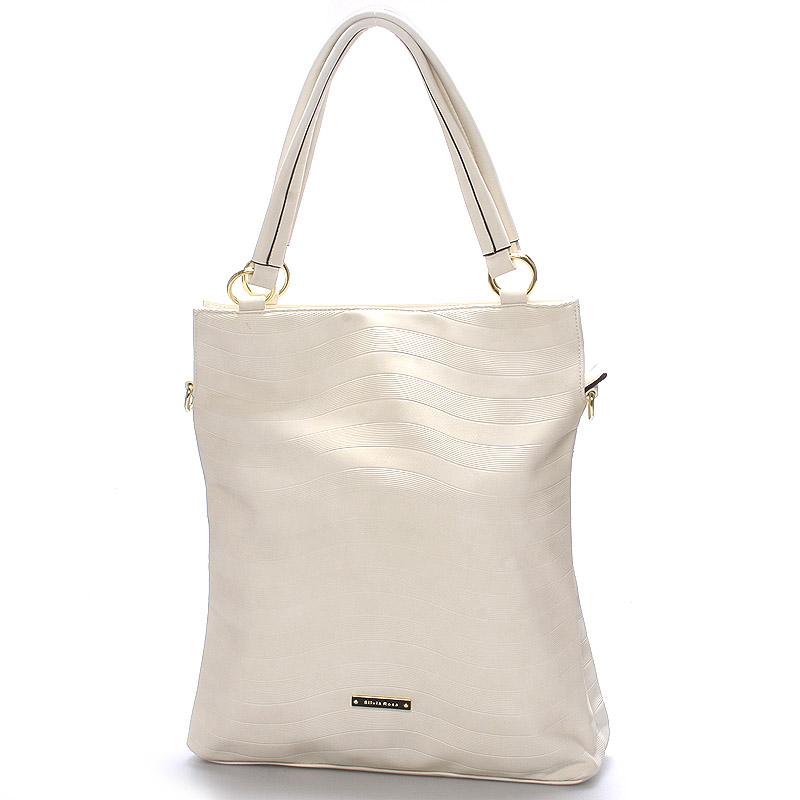 Módní dámská kabelka přes rameno bílá - Silvia Rosa Raison