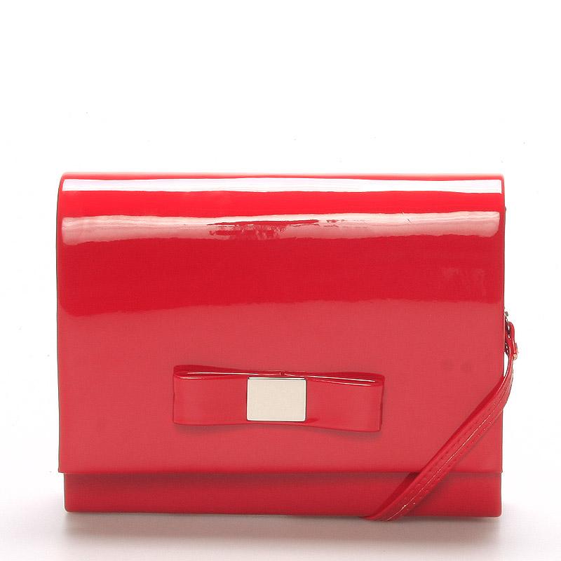 Luxusní dámské psaníčko červené lesklé - Delami Chicago Fresno