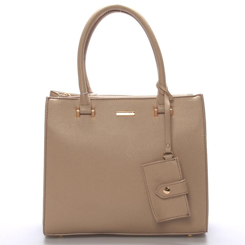 Elegantní dámská kabelka do ruky camel - David Jones Halette