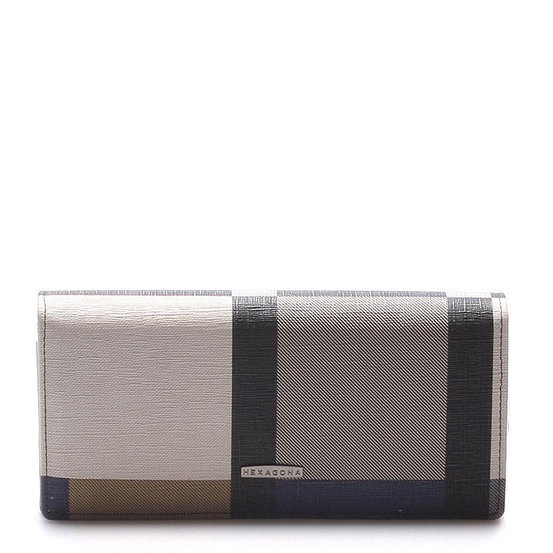 Luxusní prostorná barevná peněženka - Hexagona Lips