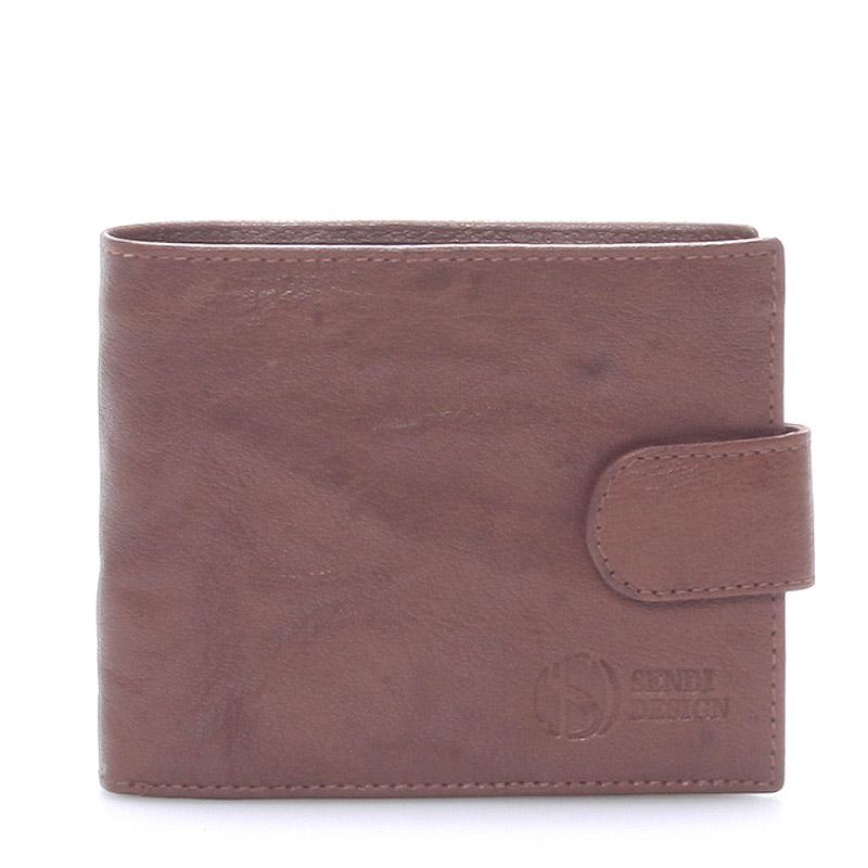 Praktická kožená hnědá peněženka - Sendi Design 47
