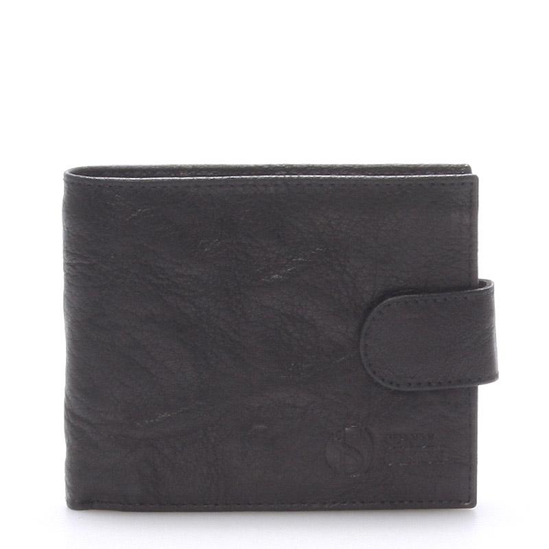 Praktická kožená černá peněženka - Sendi Design 47