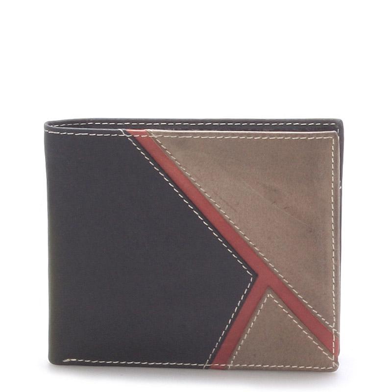 Kožená pánská černá peněženka -  Metto