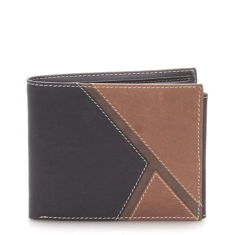 Kožená pánská černá peněženka - Anuk