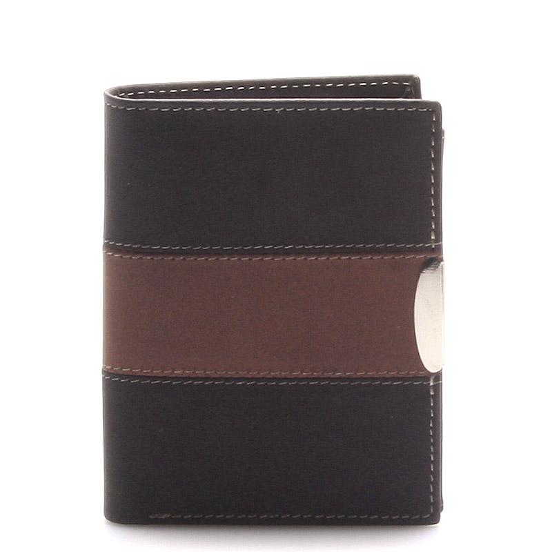 Kožená pánská černá peněženka -  Thor