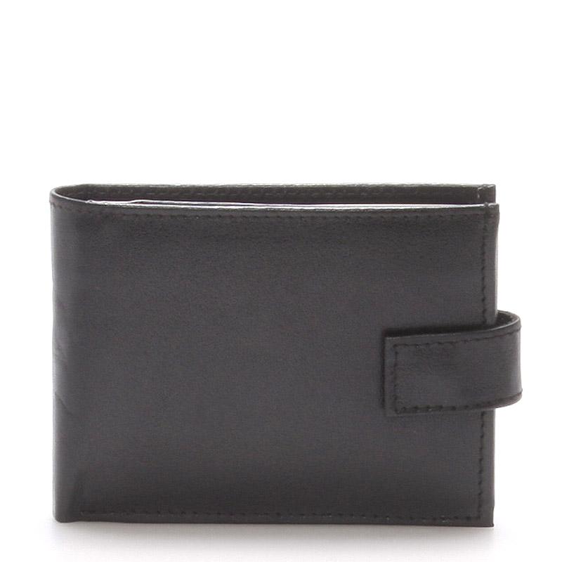 Atraktivní kožená černá pánská peněženka - Linea 31