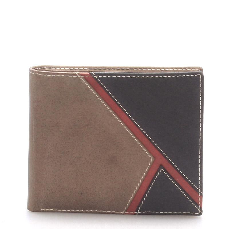 Kožená pánská khaki peněženka -  Metto