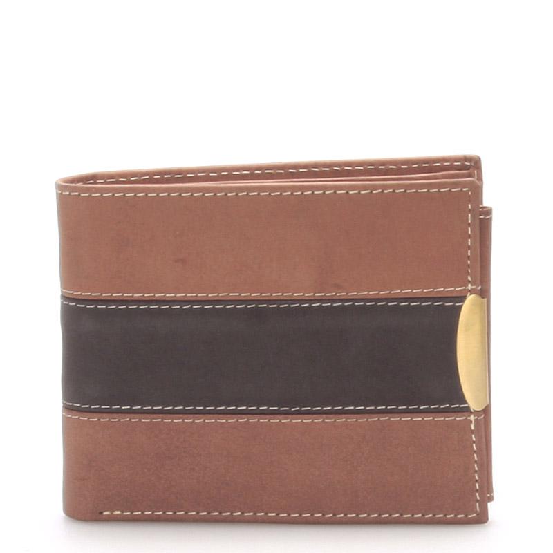 Kožená pánská hnědá peněženka -  Meck