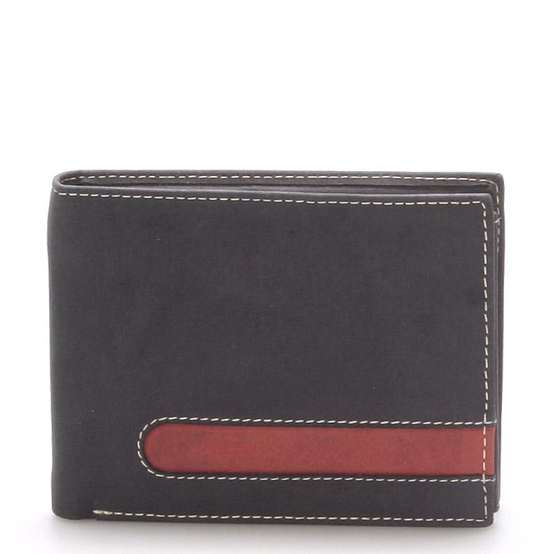 Kožená pánská černá peněženka - ItParr