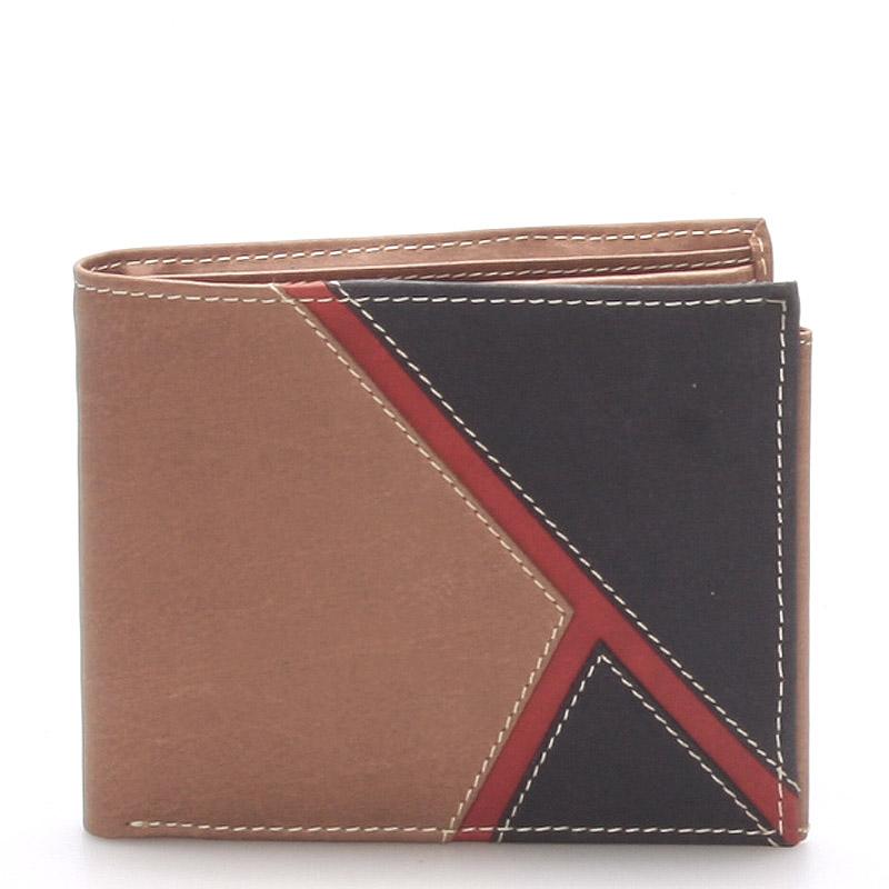 Kožená pánská hnědá peněženka - Anuk