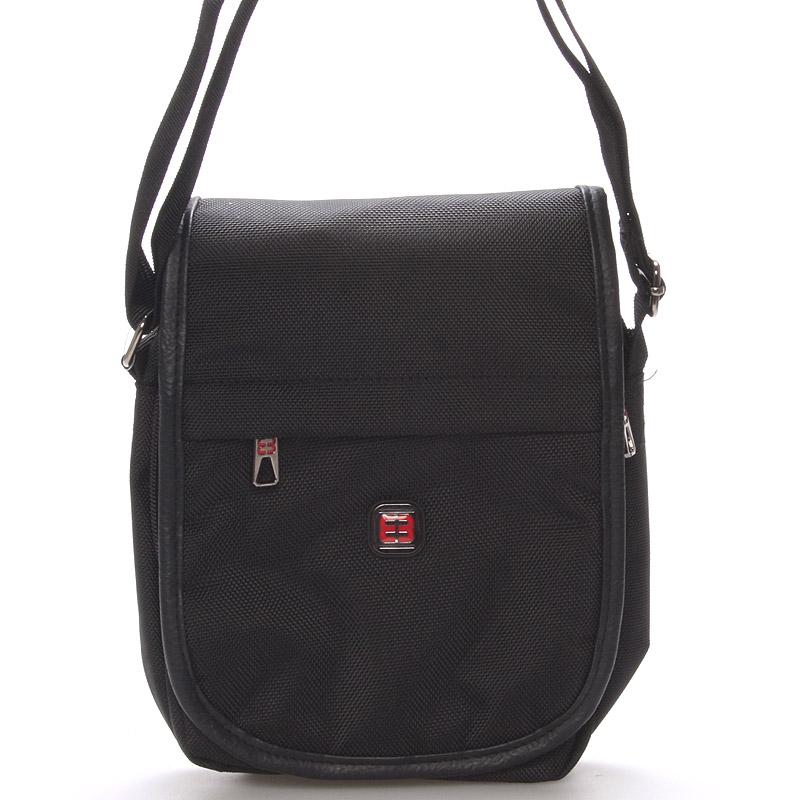 Unisex černá crossbody taška na tabet - Enrico Benetti 7141