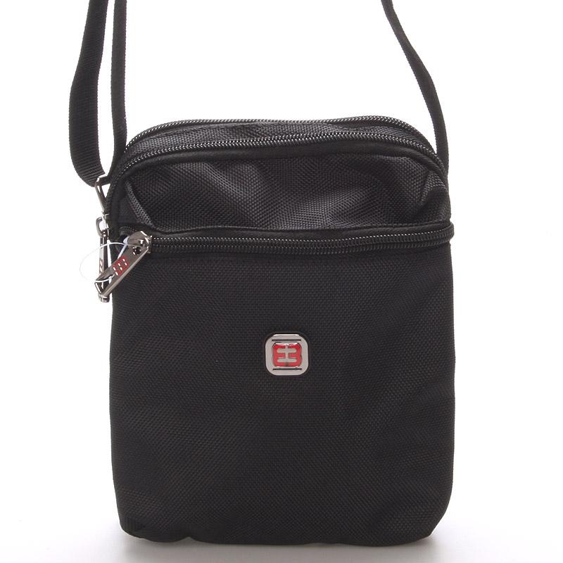 Menší unisex černá crossbody taška - Enrico Benetti 7140