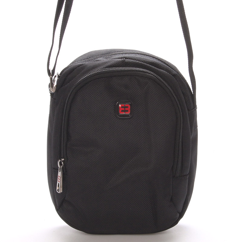 Malá unisex černá crossbody taška - Enrico Benetti 7137
