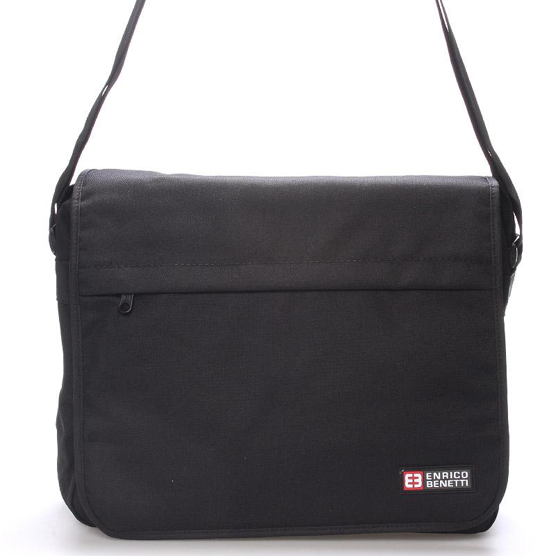 Lehká velká látková taška na notebook - Enrico Benetti Terd