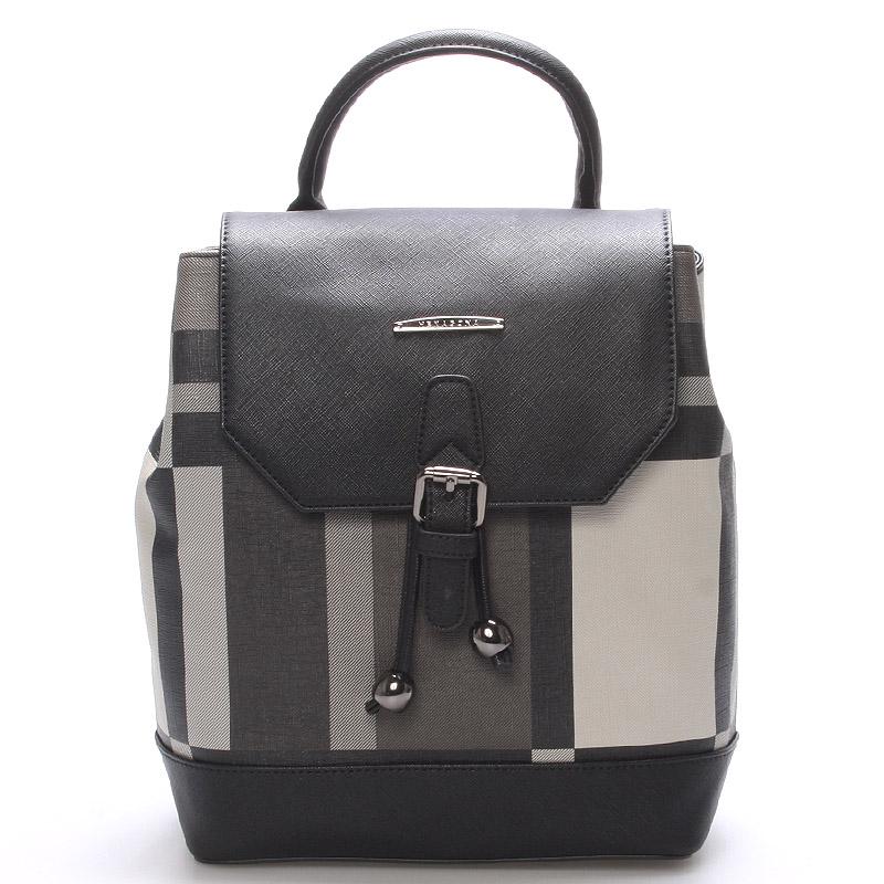 Moderní jedinečný luxusní městský batůžek černošedý - Hexagona Duo