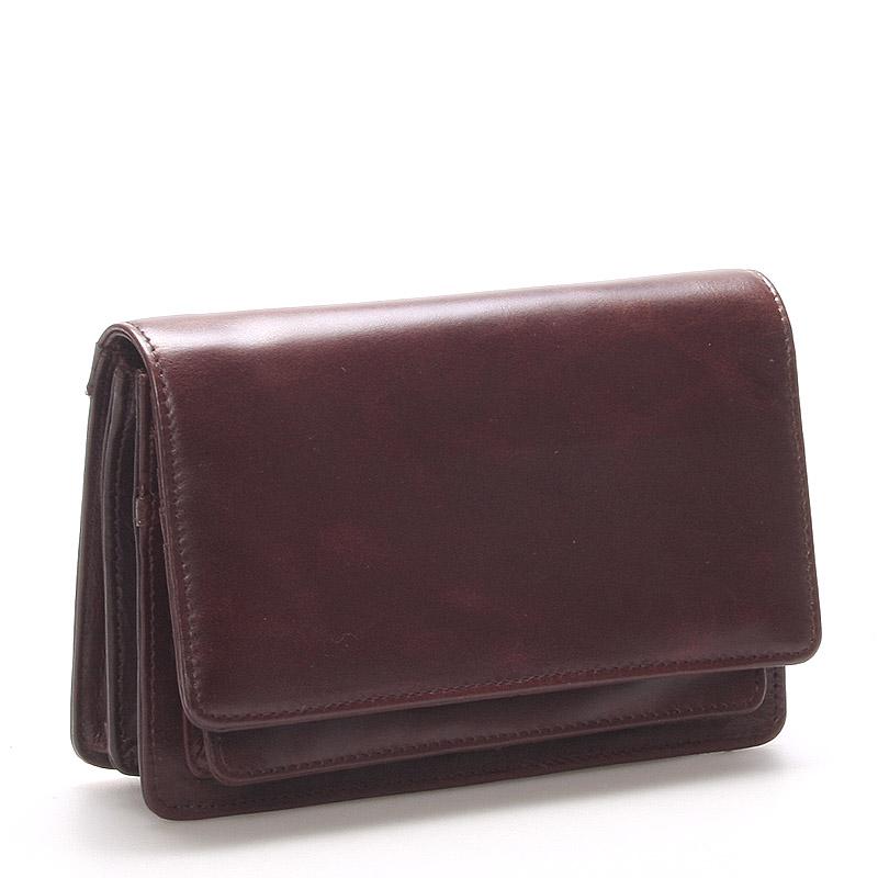 Luxusní hnědé kožené pánské etue 0396 s odnímatelným poutkem