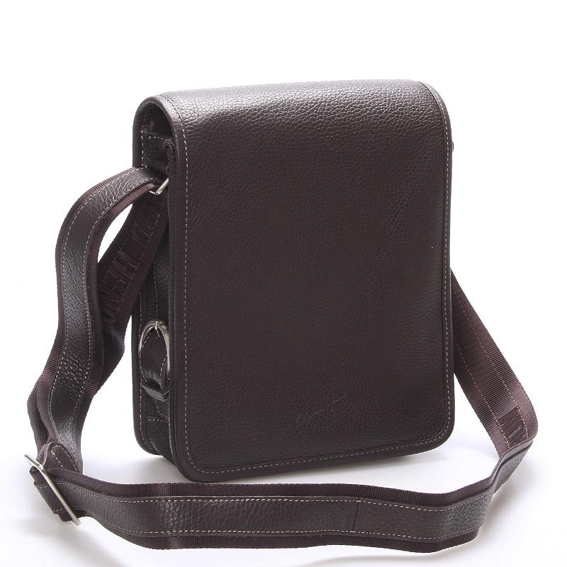 Pánska kožená taška přes rameno hnědá - Gerard Henon Bran