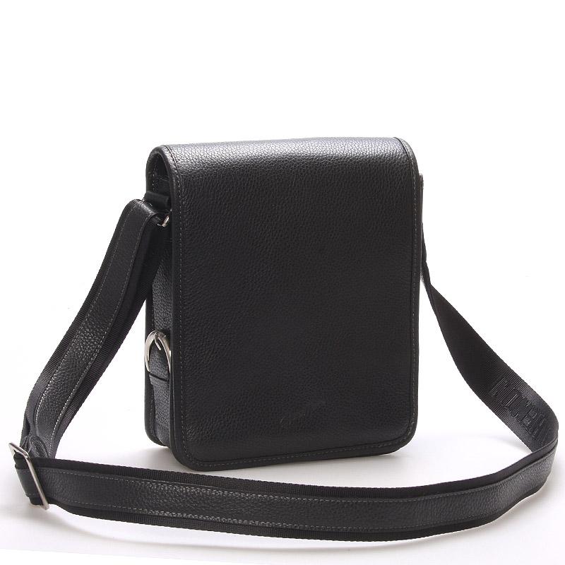 Pánska kožená taška přes rameno černá - Gerard Henon Bran