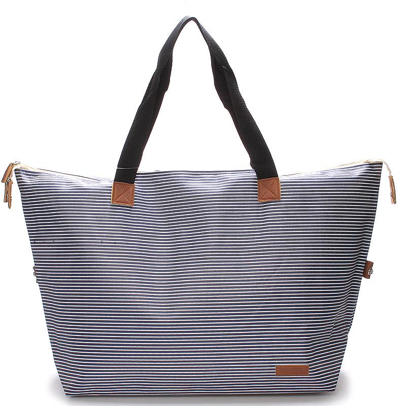 Originální velká modrá plážová taška - Piace Molto Tlys