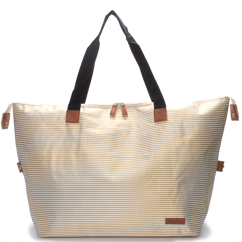 Originální velká béžová plážová taška - Piace Molto Tlys