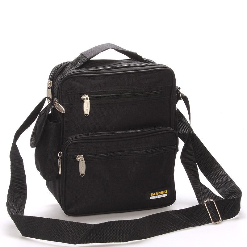 Pánská látková taška přes rameno černá - Sanchez Simone