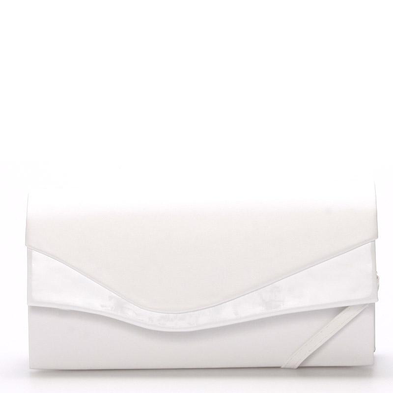 Větší originální dámské psaníčko bílé matné - Delami Geelong