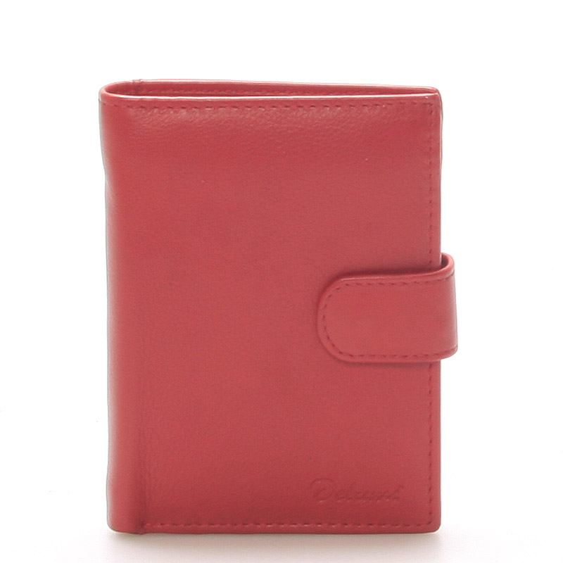 Pánská kožená červená peněženka - Delami 8703
