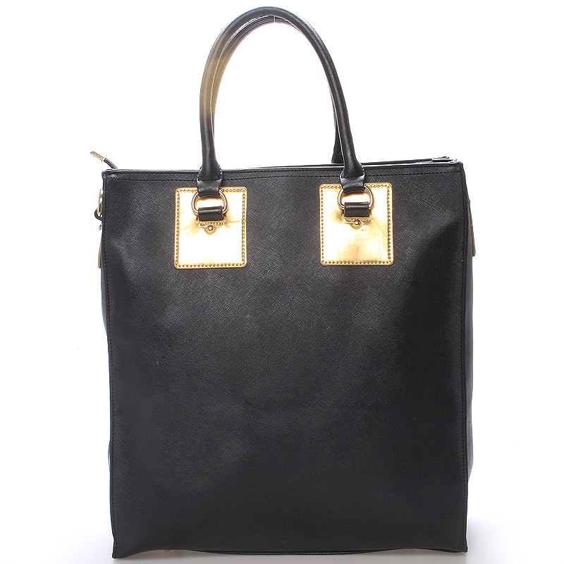 Dámská velká módní kabelka do ruky černá - LS fashion Giada