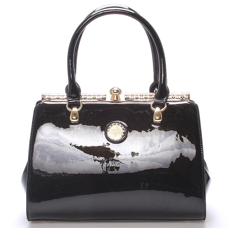 Dámská lakovaná černá kabelka - Jessica