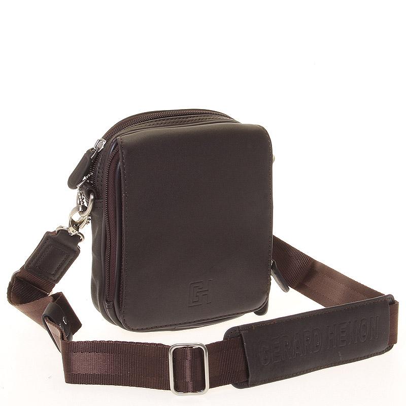 Pánská taška přes rameno na doklady hnědá - Gerard Henon Delrico