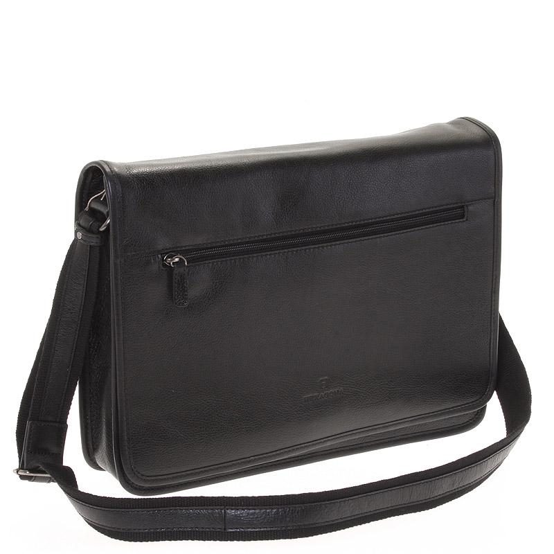 Černá kožená taška Hexagona 123482