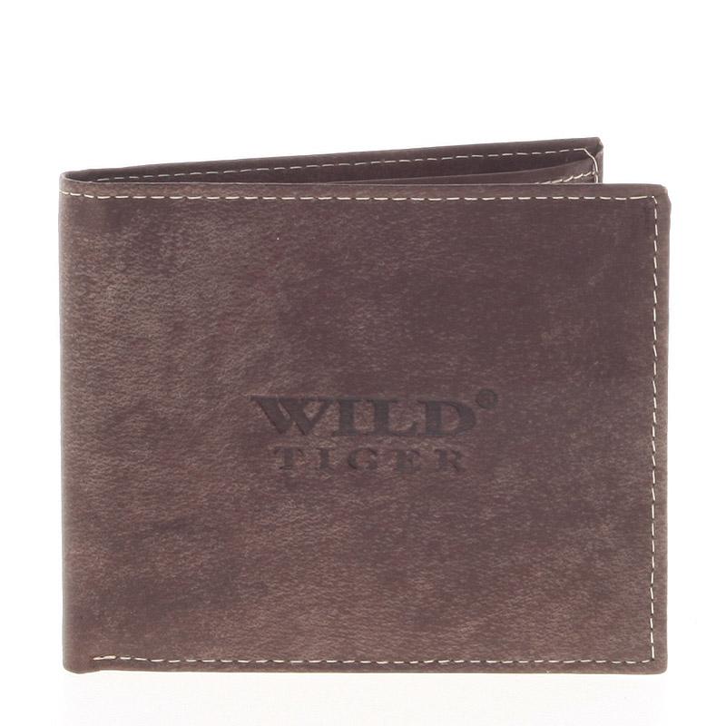 Kožená pánská tmavě hnědá peněženka - WILD Tere
