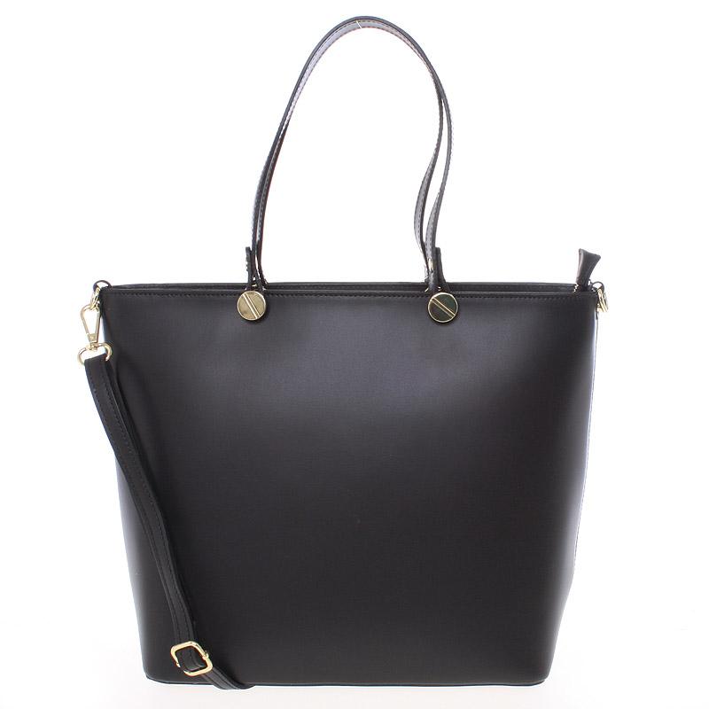 Dámská kožená kabelka černá - Delami Valentina