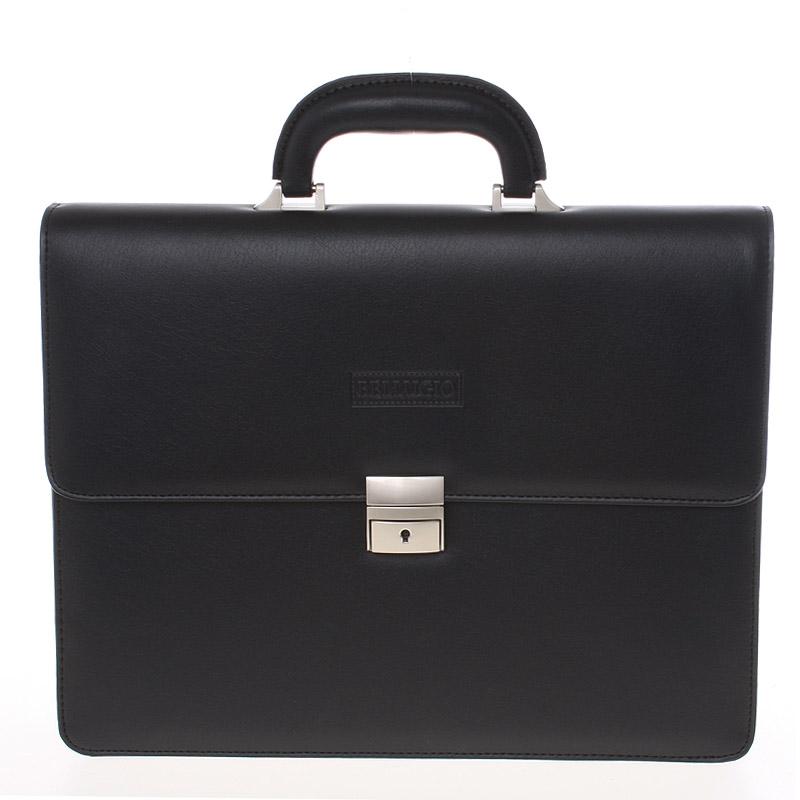 Klasická a elegantní černá aktovka - Bellugio 0402