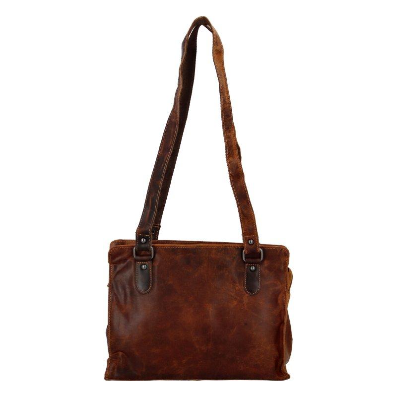 Dámská kožená kabelka přes rameno světle hnědá - Greenwood Kamille
