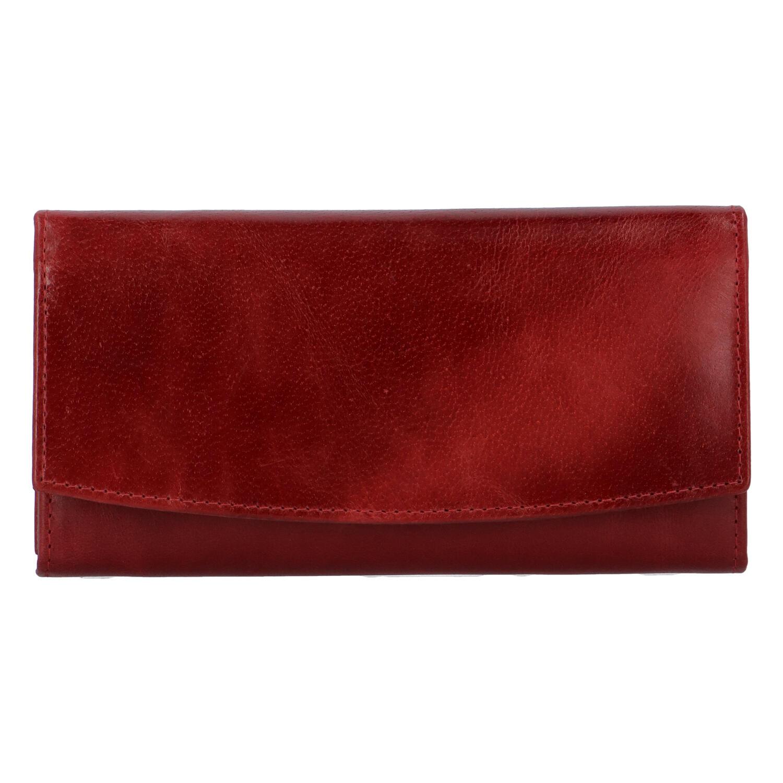Dámská kožená peněženka tmavě červená - Tomas Suave