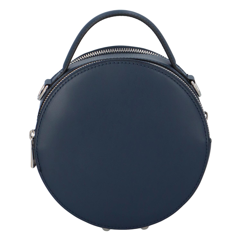 Malá tmavě modrá elegantní dámská kožená kabelka - ItalY Husna