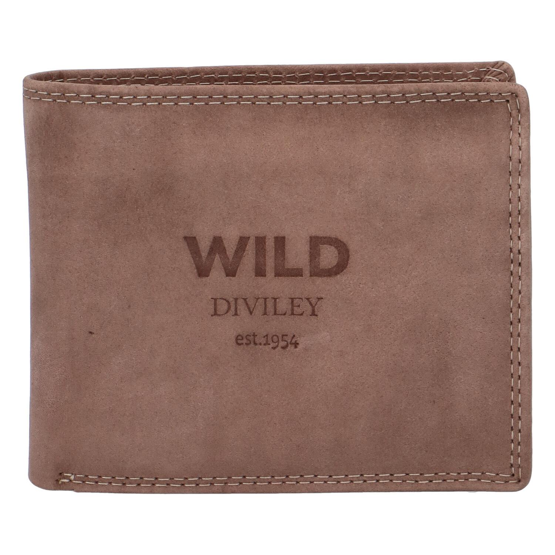 Pánská kožená peněženka taupe - WILD Stockholm