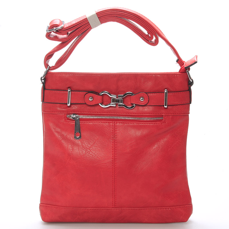 Dámská červená crossbody kabelka - Delami Rose