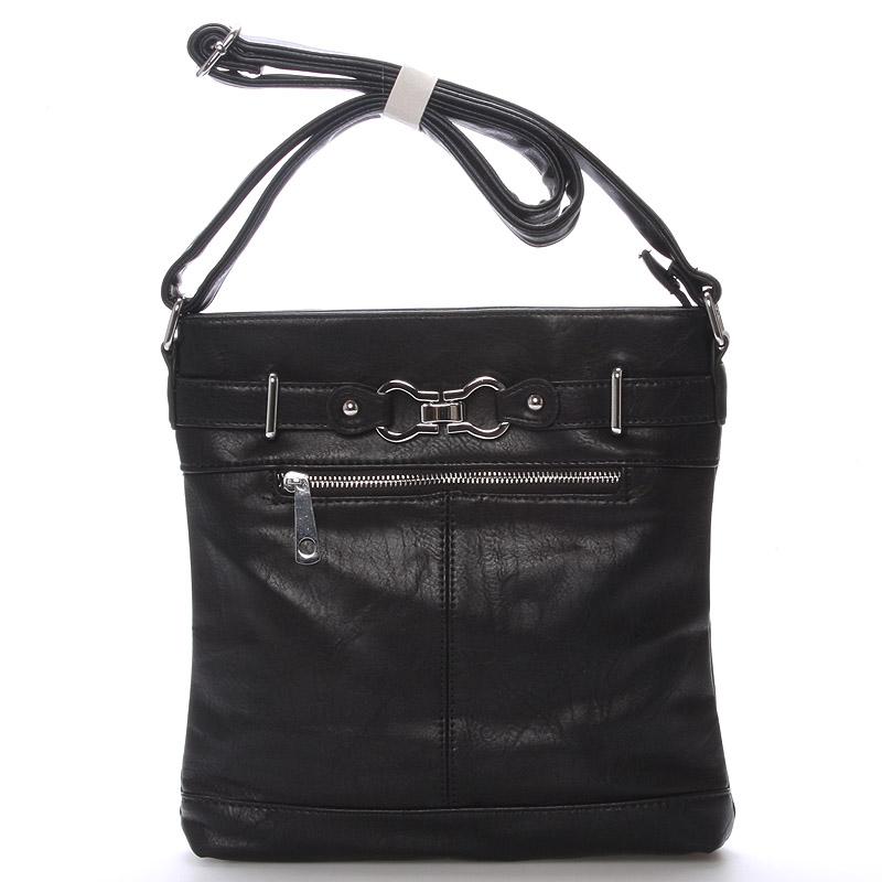 Dámská černá crossbody kabelka - Delami Rose