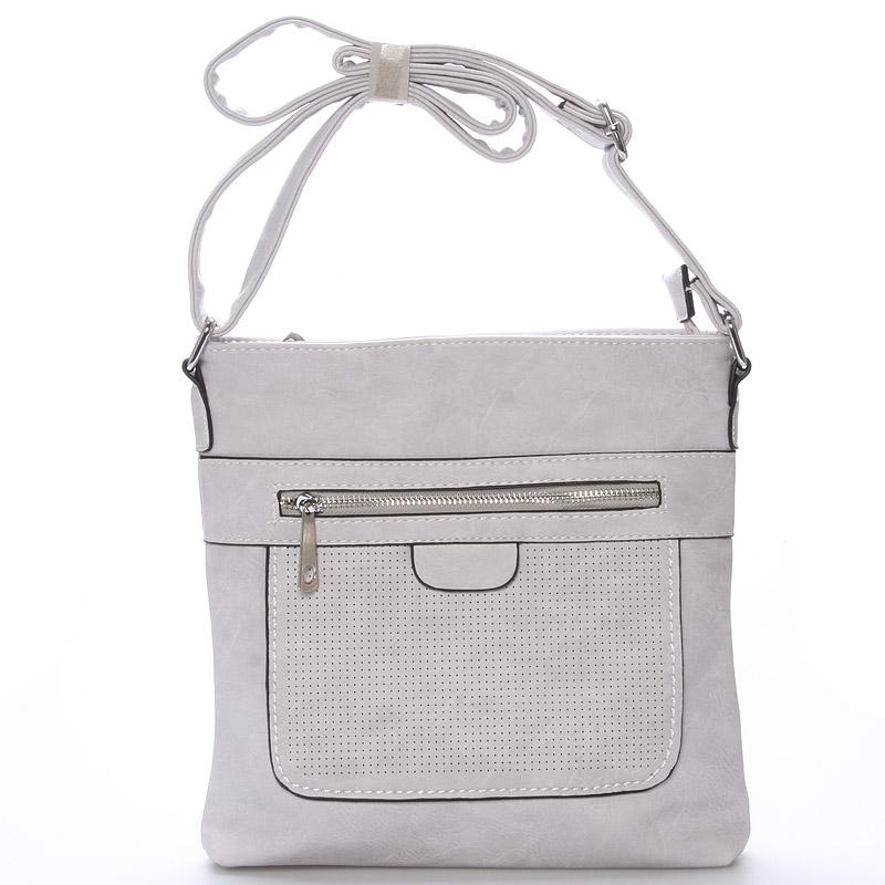 Dámská crossbody kabelka světle šedá - Delami Phoebe