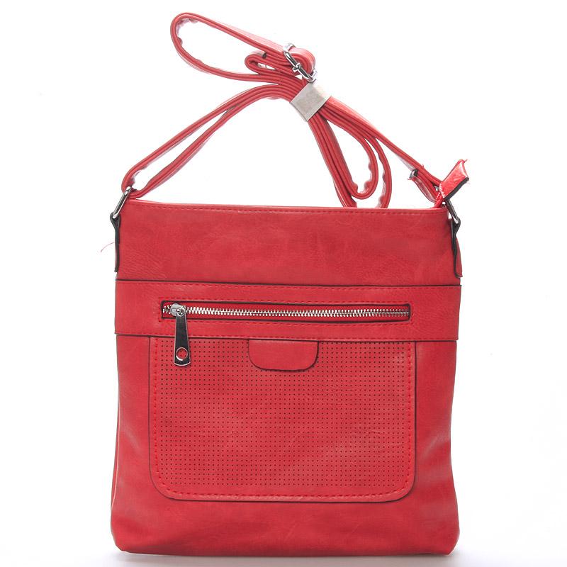 Dámská crossbody kabelka červená - Delami Phoebe