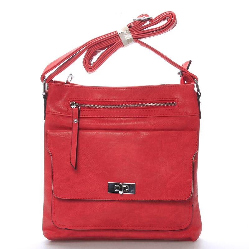 Dámská červená crossbody kabelka - Delami Josse