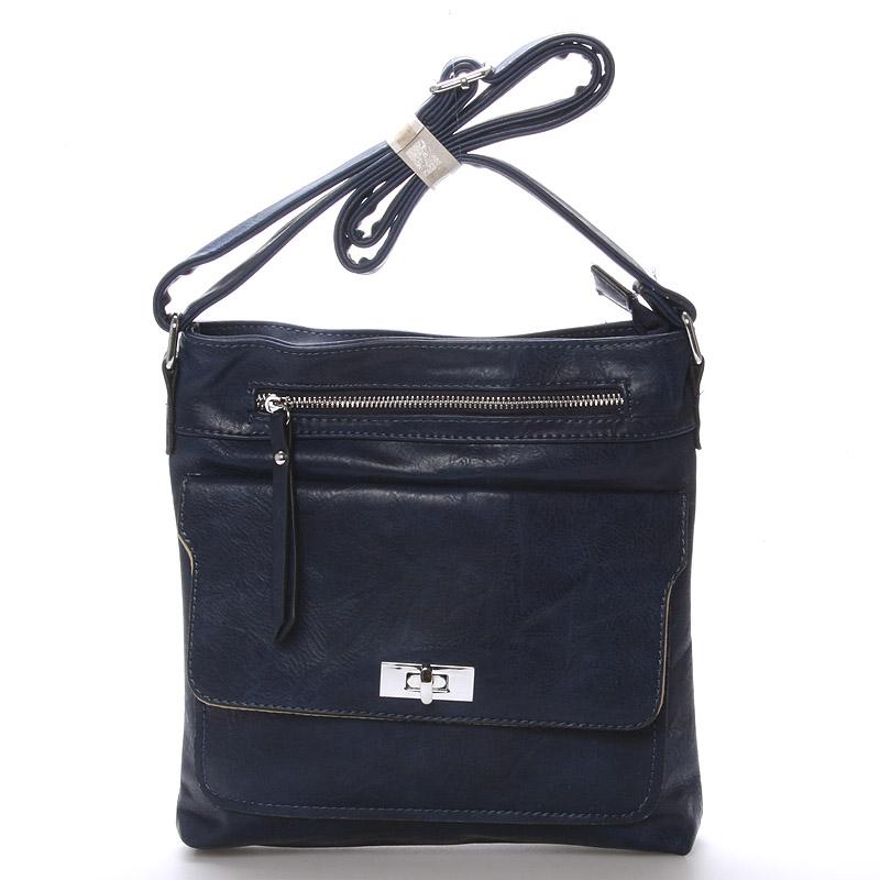 Dámská tmavě modrá crossbody kabelka - Delami Josse