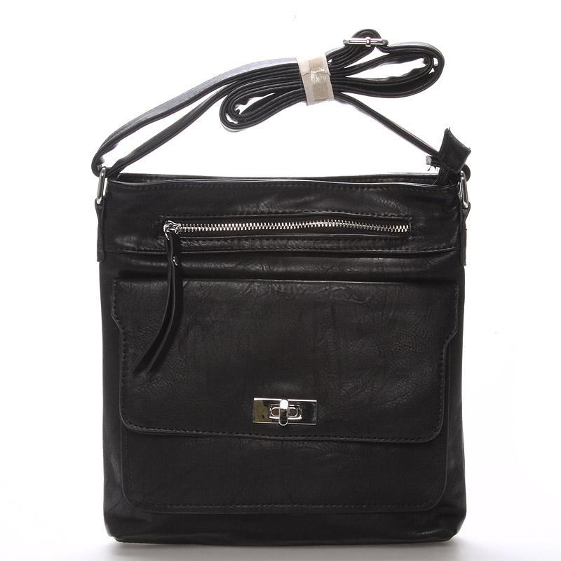 Dámská černá crossbody kabelka - Delami Josse