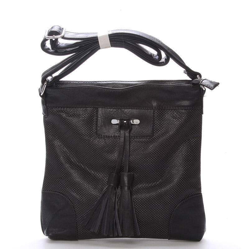 Dámská crossbody kabelka černá - Delami Whip