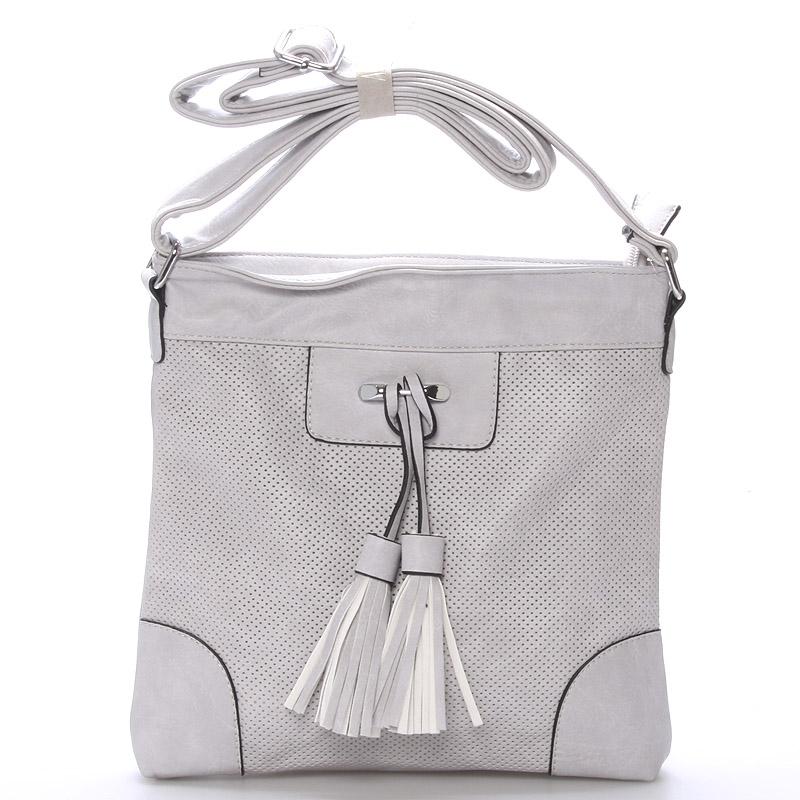 Dámská crossbody kabelka světle šedá - Delami Whip